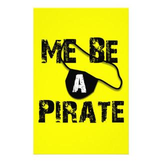 Ich bin ein Piraten-Kleid und Geschenke Briefpapier