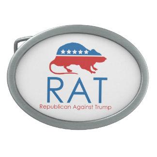 Ich bin ein R.A.T: Republikaner gegen Trumpf Ovale Gürtelschnallen