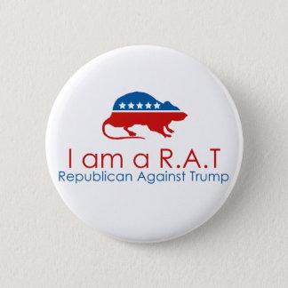 Ich bin ein R.A.T: Republikaner gegen Trumpf Runder Button 5,1 Cm
