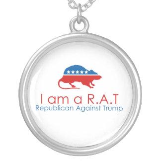 Ich bin ein R.A.T: Republikaner gegen Trumpf Versilberte Kette