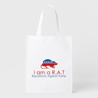 Ich bin ein R.A.T: Republikaner gegen Trumpf Wiederverwendbare Einkaufstasche