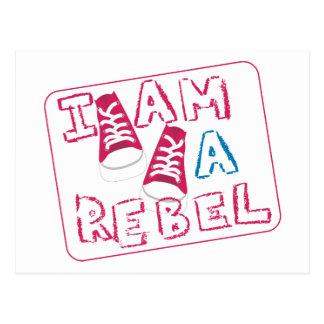 Ich bin ein Rebell-Kinder Postkarte