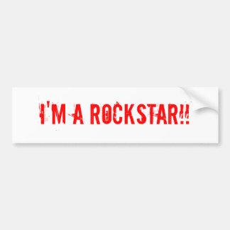 Ich bin ein ROCKSTAR!! Autoaufkleber