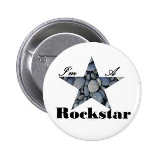 Ich bin ein Rockstar Runder Button 5,7 Cm