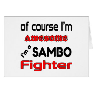 Ich bin ein Sambo-Kämpfer Karte