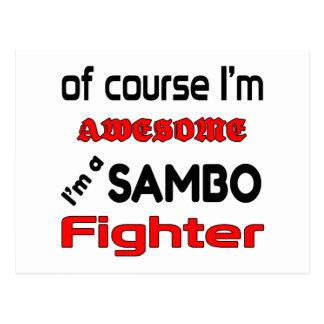 Ich bin ein Sambo-Kämpfer Postkarte