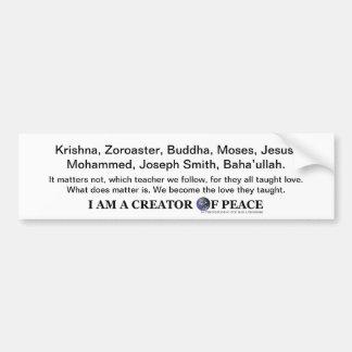 Ich bin ein Schöpfer des FriedensAutoaufklebers Autoaufkleber