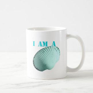 Ich bin ein Seashell Kaffeetasse