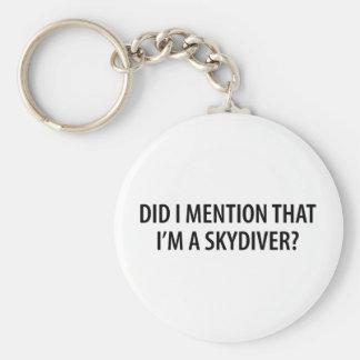 Ich bin ein Skydiver Schlüsselanhänger