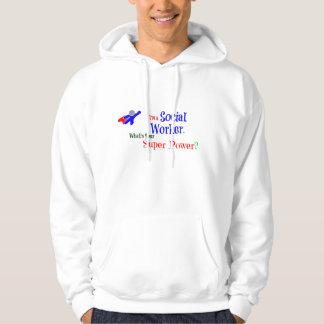 Ich bin ein Sozialarbeiter. Was ist Ihr Kapuzensweater