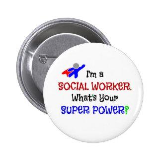Ich bin ein Sozialarbeiter. Was ist Ihr Runder Button 5,7 Cm