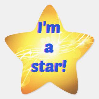 Ich bin ein Stern-die Aufkleber, glatt Stern-Aufkleber