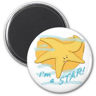Ich bin ein Sternglücklicher Starfish Runder Magnet 5,7 Cm
