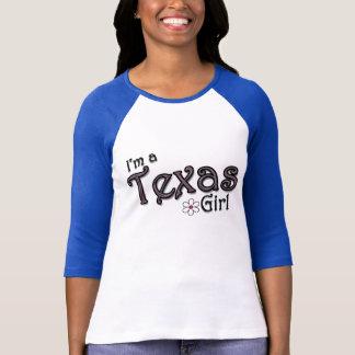 Ich bin ein Texas-Mädchen, Blume, blauer T - Shirt
