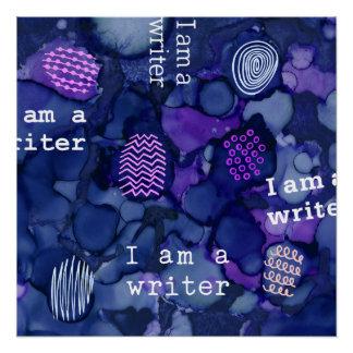 Ich bin ein Verfasser-Text auf Poster