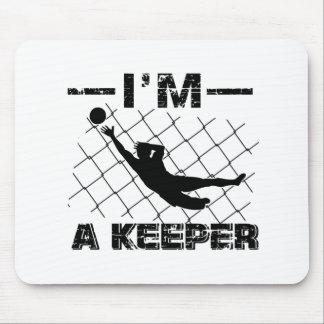Ich bin ein Wächter - Fußball-Torhüterentwürfe Mousepad