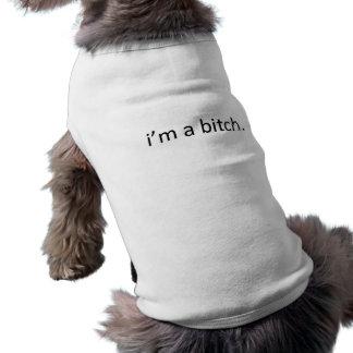 """""""ich bin ein Weibchen"""" LUSTIGER HUNDE HUMOR Ärmelfreies Hunde-Shirt"""