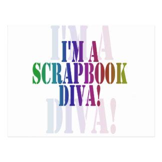 Ich bin eine Einklebebuch-Diva-T-Shirts und Postkarte