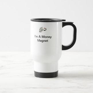 Ich bin eine Geld-Magnet-Reise-Tasse Edelstahl Thermotasse