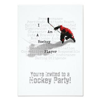 Ich bin eine Hockey-Spieler-Party Einladung
