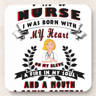 Ich bin eine Krankenschwester, die ich mit einem Untersetzer