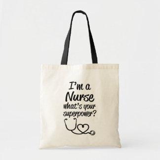Ich bin eine Krankenschwester, was bin Ihre Tragetasche