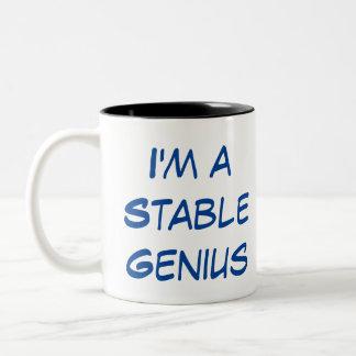 Ich bin eine stabile Genie-Tasse Zweifarbige Tasse