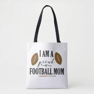 Ich bin eine stolze Fußball-Mamma-Taschen-Tasche Tasche
