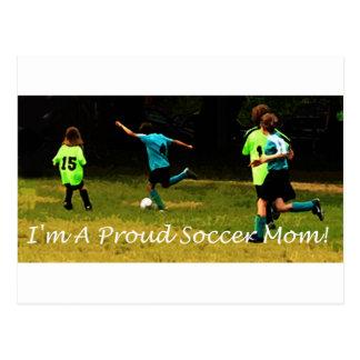 Ich bin eine stolze Fußballmamma! Postkarte