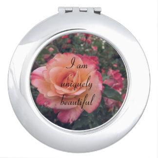 Ich bin einzigartig schöner kompakter Spiegel Taschenspiegel