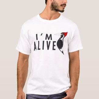 Ich bin - Elfenbein berechneter Specht lebendig T-Shirt