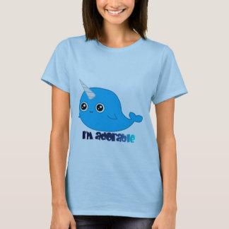 Ich bin entzückendes Narwhal Dament-stück T-Shirt