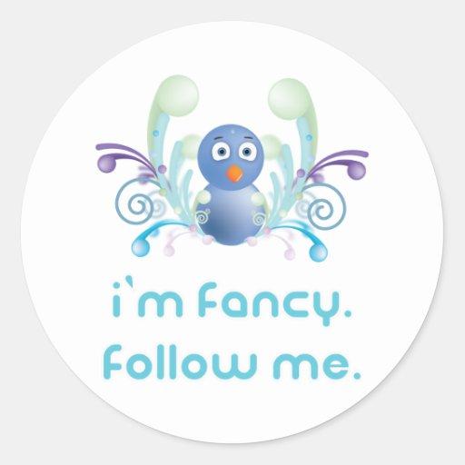 Ich bin extravagant. Follow-me. Twitter-Entwurf Runde Sticker