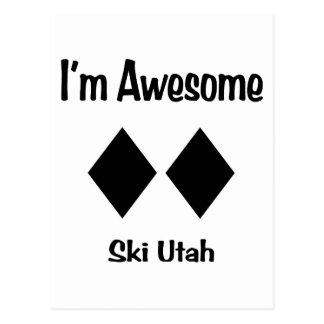 Ich bin fantastischer Ski Utah Postkarte