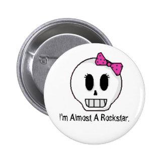 Ich bin fast ein Rockstar Runder Button 5,7 Cm