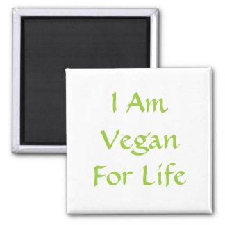Ich bin für das Leben vegan. Grün. Slogan. Gewohnh Magnete