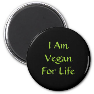 Ich bin für das Leben vegan. Grün. Slogan. Gewohnh Kühlschrankmagnete