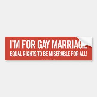Ich bin für homosexuelle Ehe Autoaufkleber