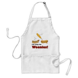Ich bin für Weenies verrückt Mais-Chili-Hotdog Schürze