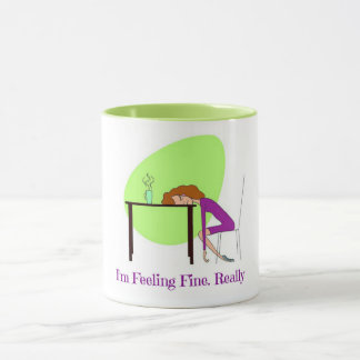 I'm Feeling Fine Fibromyalgia Awareness Coffee Mug