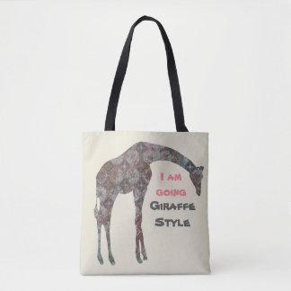 Ich bin gehende Giraffen-Art Tasche
