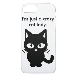 Ich bin gerade eine verrückte Katzen-Dame iPhone 8/7 Hülle