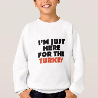 Ich bin gerade hier für den Truthahn Sweatshirt