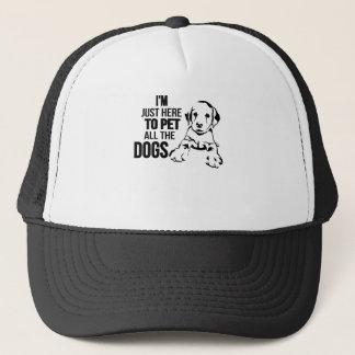 Ich bin gerade hier Pet alle Hunde Truckerkappe