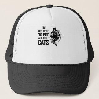 Ich bin gerade hier Pet alle Katzen Truckerkappe
