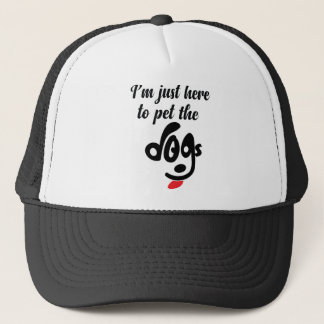 Ich bin gerade hier Pet den Hund Truckerkappe
