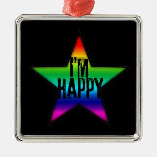 Ich bin glückliche homosexuelle lesbische silbernes ornament