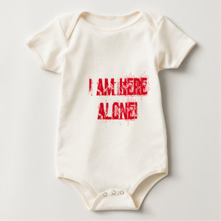 Ich bin hier alleinbabykleidung baby strampler