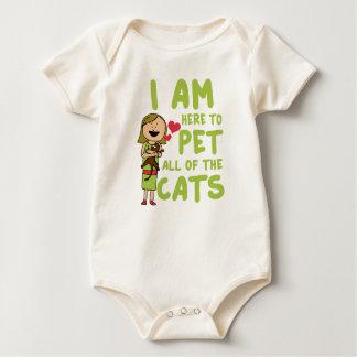 Ich bin hier pet alle Katzen Baby Strampler
