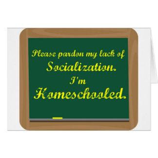 Ich bin homeschooled. karte